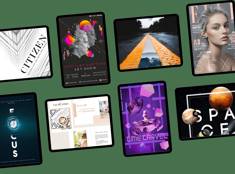 Một vài bài tập của học viên khóa học DESIGNER - Trung tâm thiết kế đồ họa ColorME
