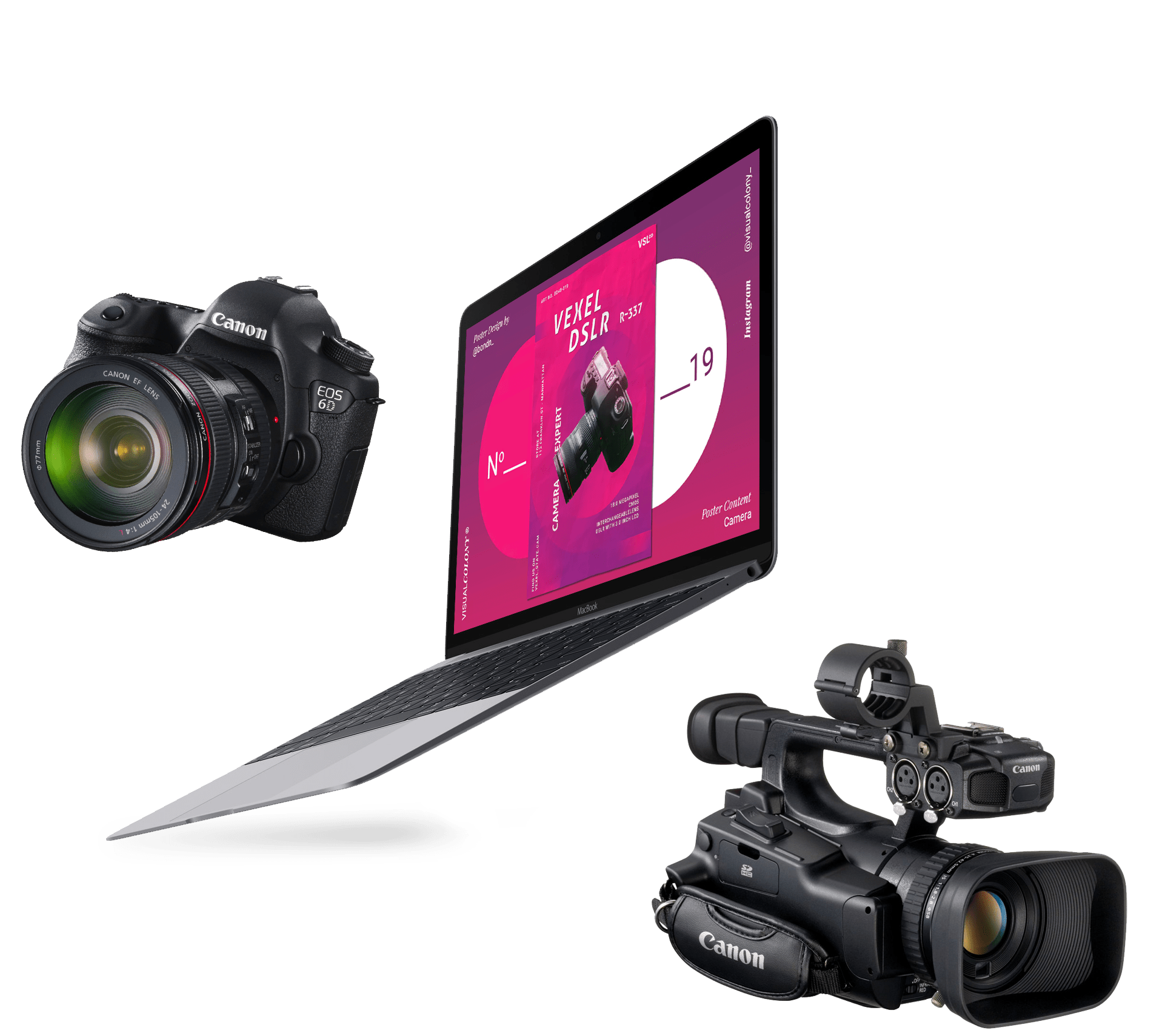 camera and laptop image