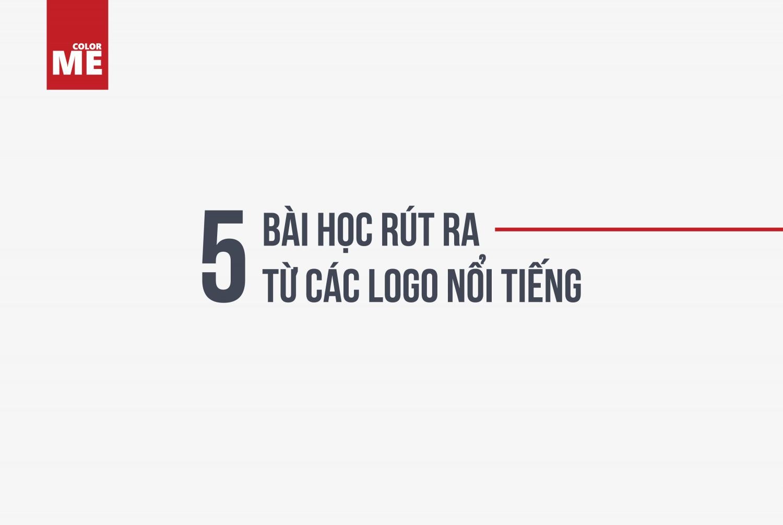 Logo là bộ mặt đại diện cho thương hiệu, nó mang lại cho doanh nghiệp những cơ hội tuyệt vời trong việc giao tiếp và kết nối sản phẩm của họ đến với người tiêu dùng. Một logo tốt sẽ giúp cho khách hàng nhanh chóng nhớ đến thương hiệu của mình từ đó sẽ nâng cao khả năng khách hàng sẽ chọn mua sản phẩm của doanh nghiệp đó thay vì của các đối thủ cạnh tranh khác. Vậy làm thế nào để có được một logo tốt? Dưới đây sẽ là 5 bài học được rút ra từ những logo hàng đầu trên thế giới, hãy cùng ColorME tìm hiểu và áp dụng vào logo của bạn nhé!