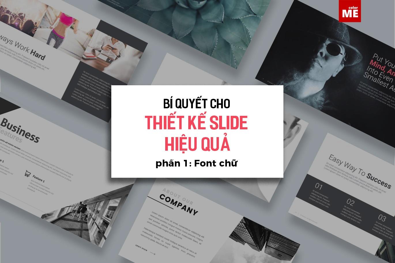 Khi làm việc với chữ trong thiết kế slide, chúng ta phải quan tâm đến nhiều điều hơn nữa chứ không chỉ yếu tố thẩm mỹ. Một font chữ đẹp, hài hòa với silde cũng chưa chắc đã mang lại hiệu quả. Bởi lẽ, thiết kế slide có những đặc trưng riêng: