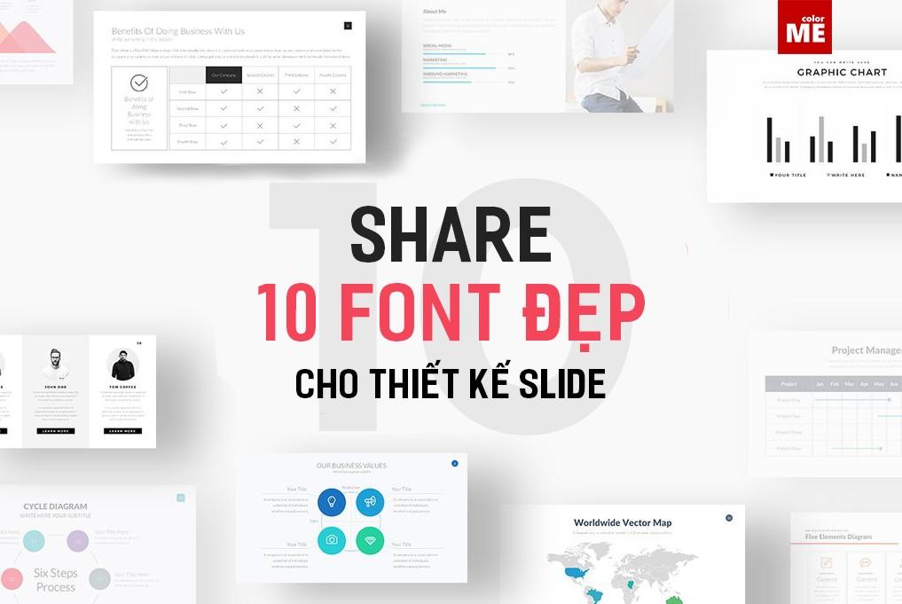 Font chữ cho thiết kế slide không chỉ cần đẹp, mà còn phải rõ ràng và dễ đọc để phù hợp cho trình chiếu.