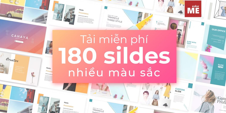 Tải ngay 180 templates slide với 6 màu chủ đạo hoàn toàn miễn phí