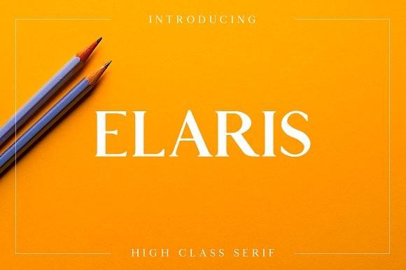 Fonts chữ Elaris