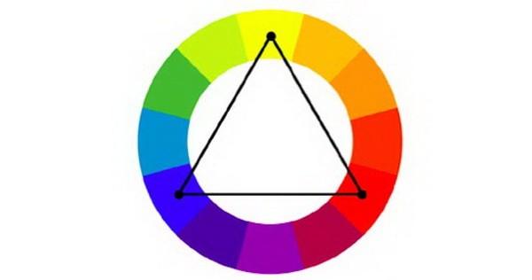 Phối màu bổ túc bộ ba (Triadic)