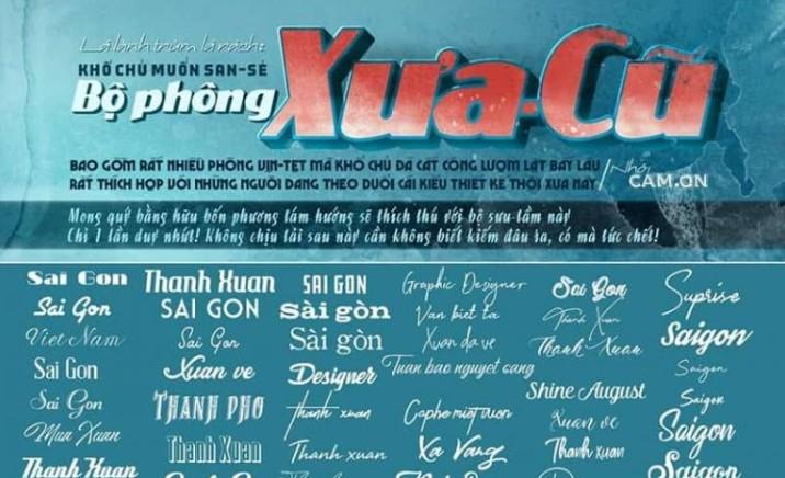 font chữ retro Phông xưa cũ