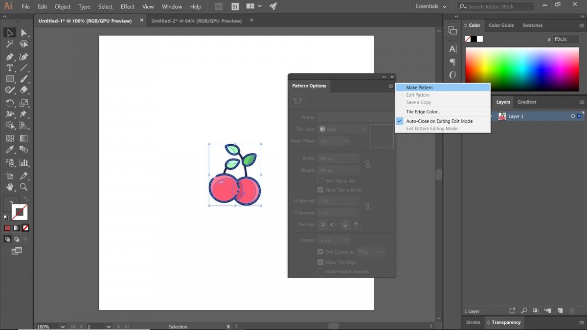 hướng dẫn tạo pattern bằng illustrator 3