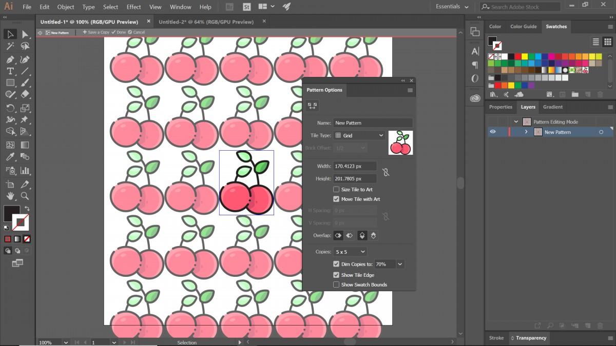 hướng dẫn tạo pattern bằng illustrator 4