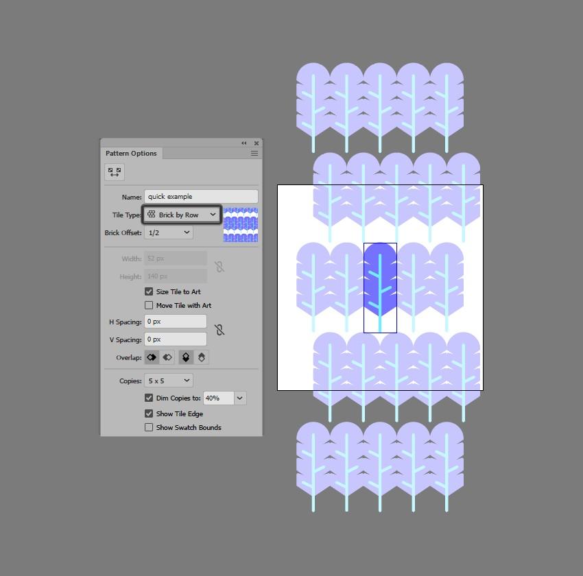 hướng dẫn tạo pattern bằng illustrator 6
