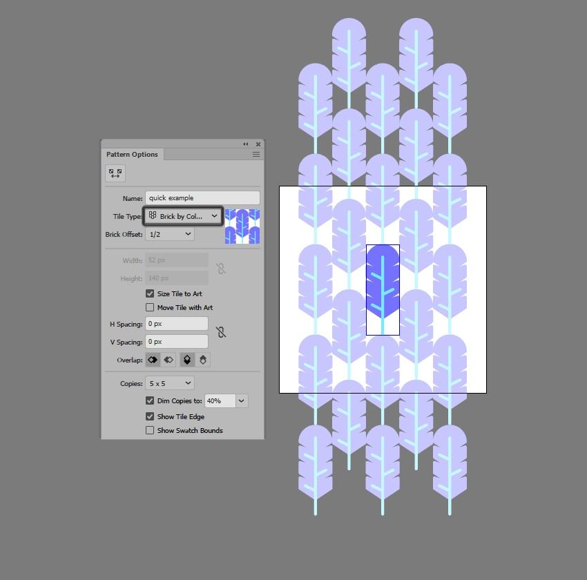 hướng dẫn tạo pattern bằng illustrator 7