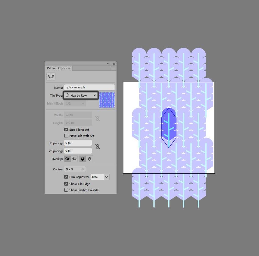 hướng dẫn tạo pattern bằng illustrator 8