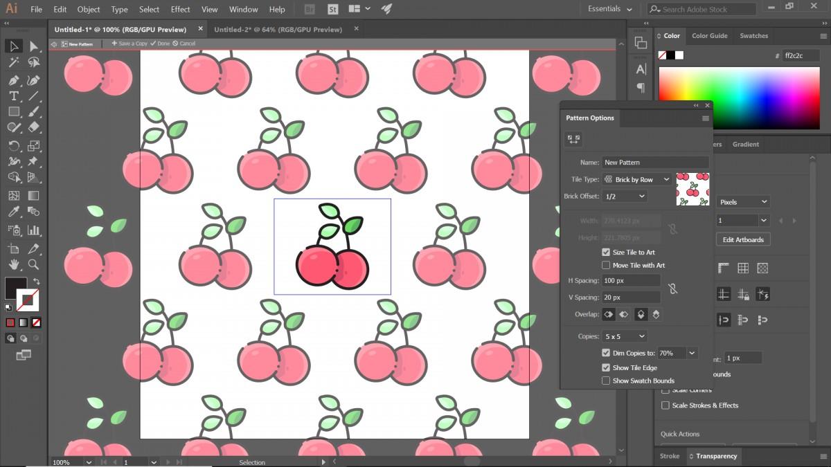 hướng dẫn tạo pattern bằng illustrator 10