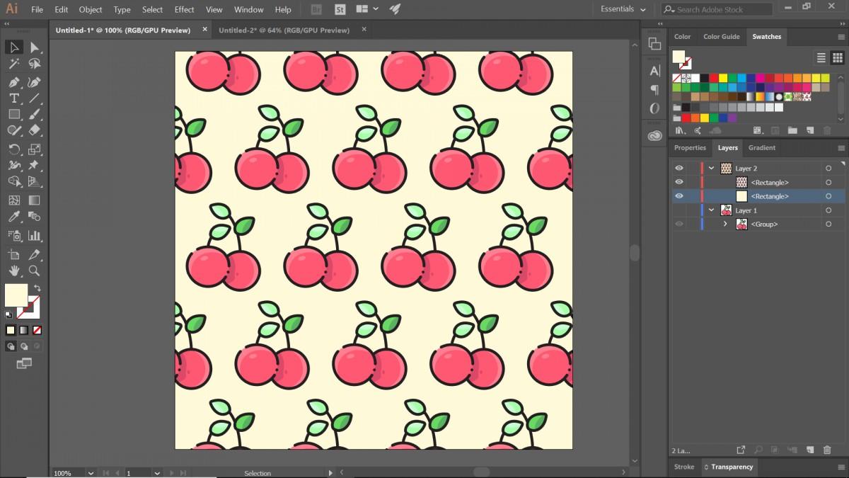 hướng dẫn tạo pattern bằng illustrator 11