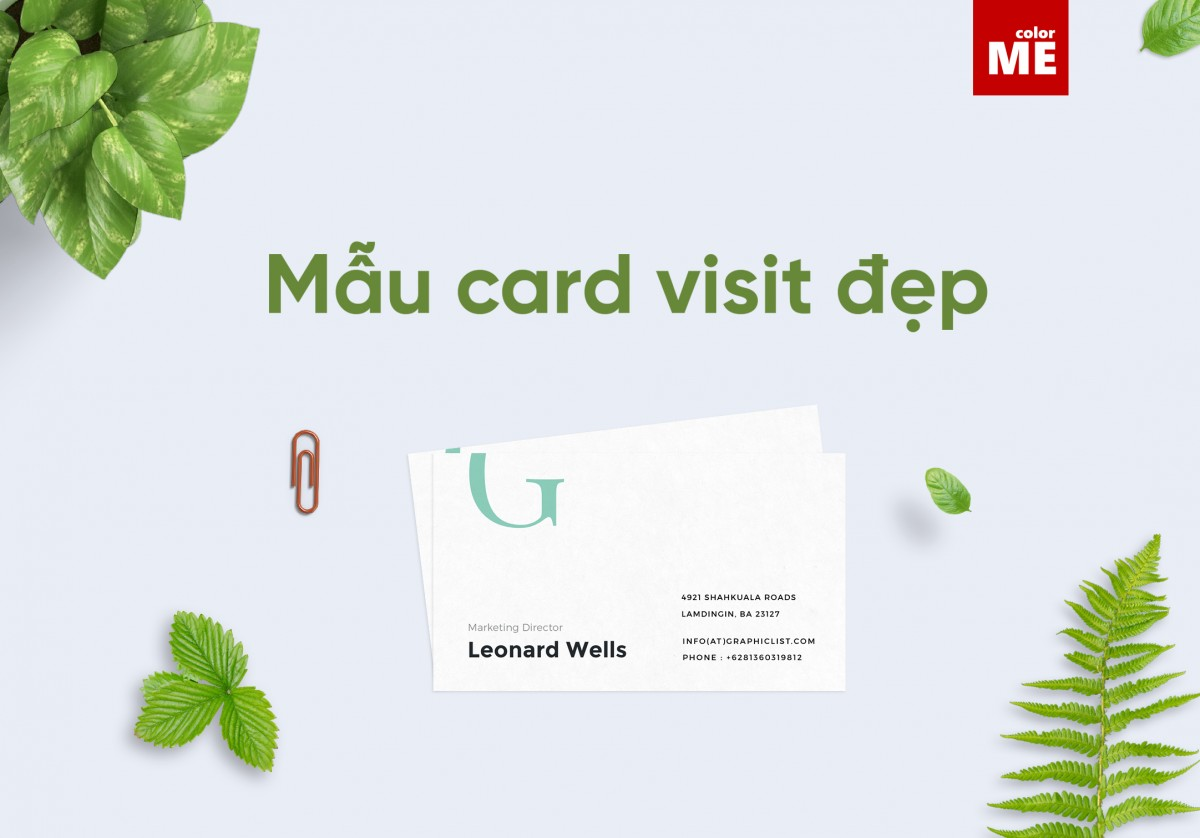 Đối với doanh nghiệp hay những những người đi làm, việc có một tấm card visit để trao đổi thông tin liên lạc với khách hàng hoặc đối tác là điều vô cùng quan trọng. Vậy làm thế nào để họ có thể ấn tượng và ghi nhớ thông tin về bạn và công ty thông qua một tấm card. Hãy cùng ColorMe khám phá 7 mẫu card visit đẹp nhất dưới đây nhé.