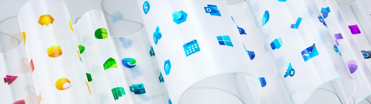 Mới đây, Microsoft đã tái thiết kế hơn 100 icon phần mềm với màu sắc, chất liệu và phong cách hoàn toàn mới.
