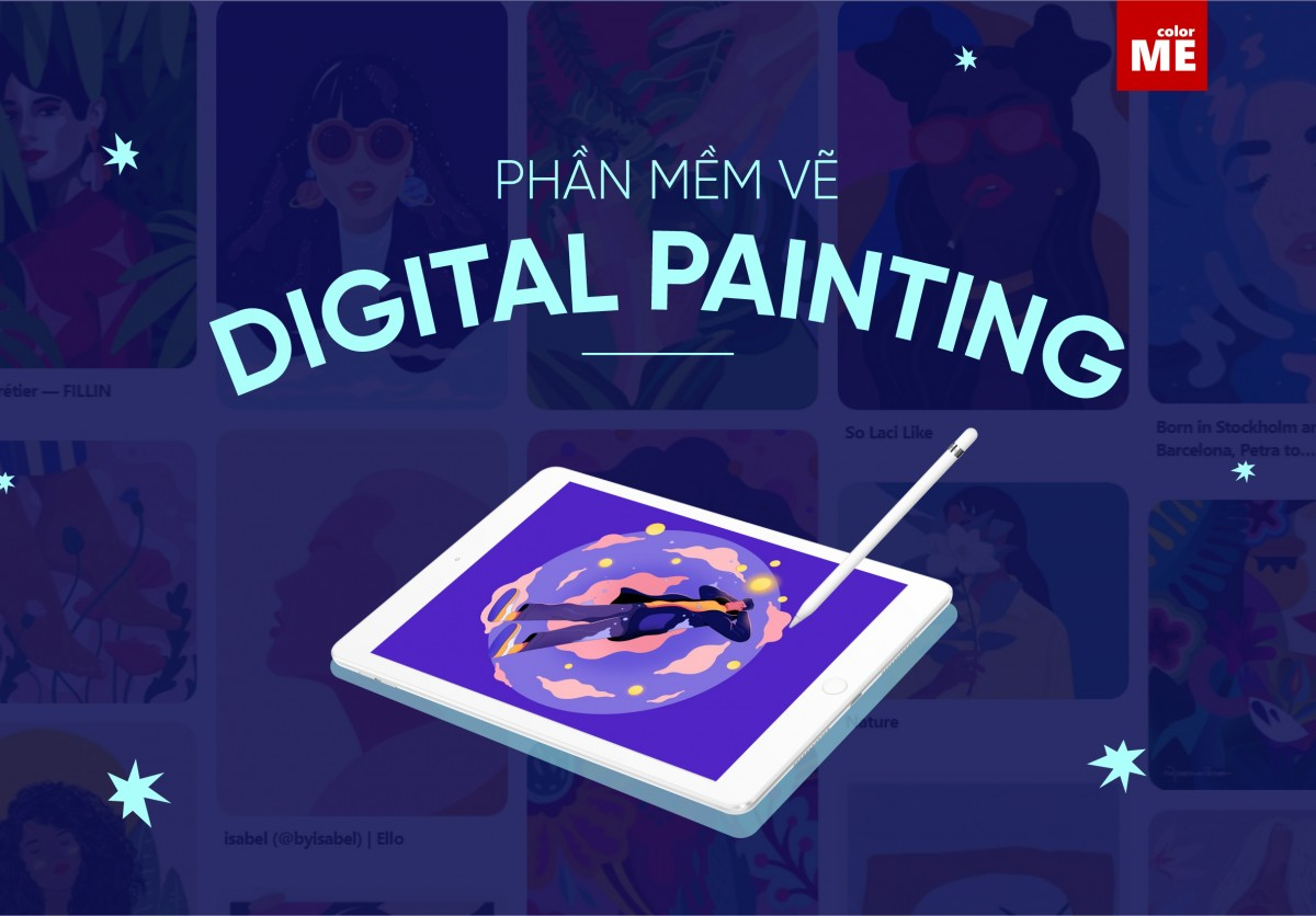 Digital Painting bản chất là việc vẽ minh hoạ trên môi trường kỹ thuật số với sự hỗ trợ của rất nhiều công cụ vẽ đa dạng trên các phần mềm khác nhau. Hãy cùng colorME tìm hiểu về top 8 phần mềm vẽ digital painting được các digital artist ưa chuộng nhất hiện nay nha.
