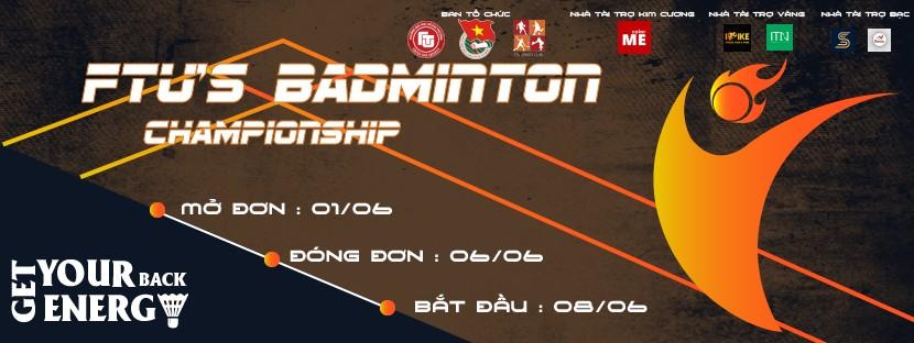 FTU's Badminton Championship (FBC) là giải cầu lông lớn nhất trong năm 2020 được tổ chức bởi CLB Thể thao Trường Đại học Ngoại thương với mong muốn củng cố tinh thần thể thao, nâng cao sức khỏe dành cho các bạn sinh viên trong toàn trường. Cùng với sự đồng hành của Trung tâm đào tạo thiết kế colorME với vai trò Nhà tài trợ kim cương, giải đấu cầu lông FBC đã diễn ra thành công tốt đẹp.