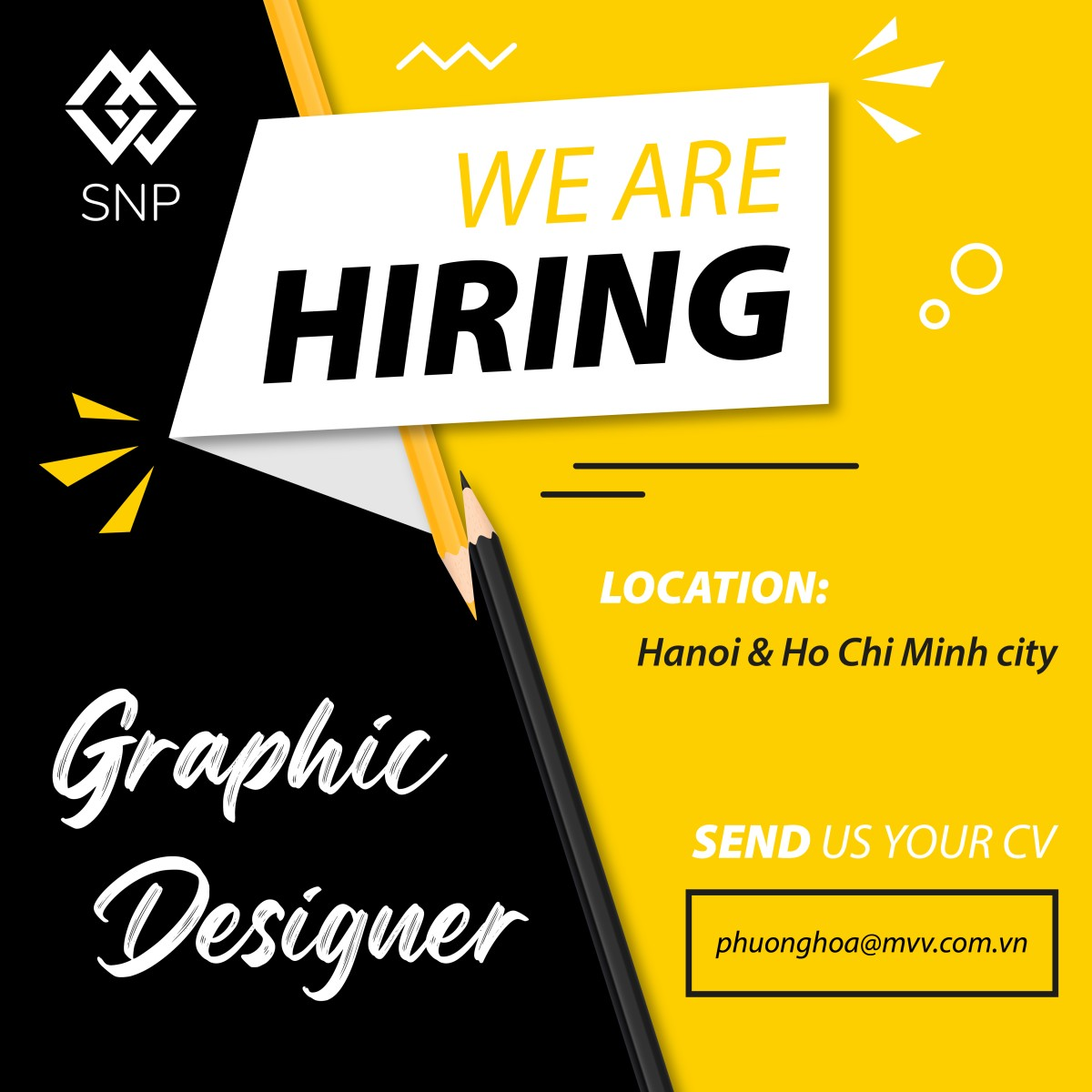 MVV SnP tuyển dụng Graphic Designer (Full-time/Part-time/Intern)