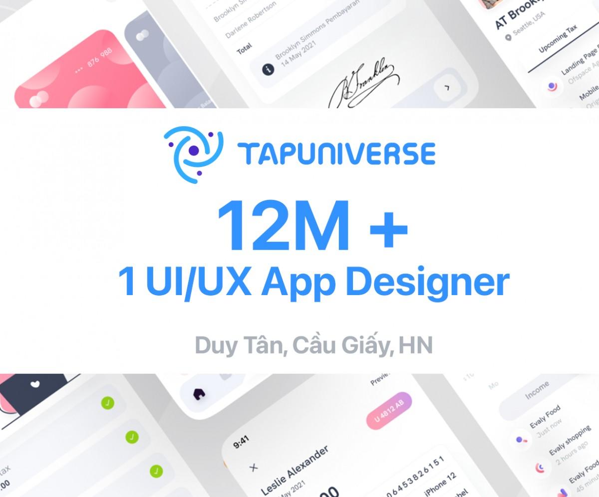 TAPUNIVERSE tuyển UI/UX App Designer