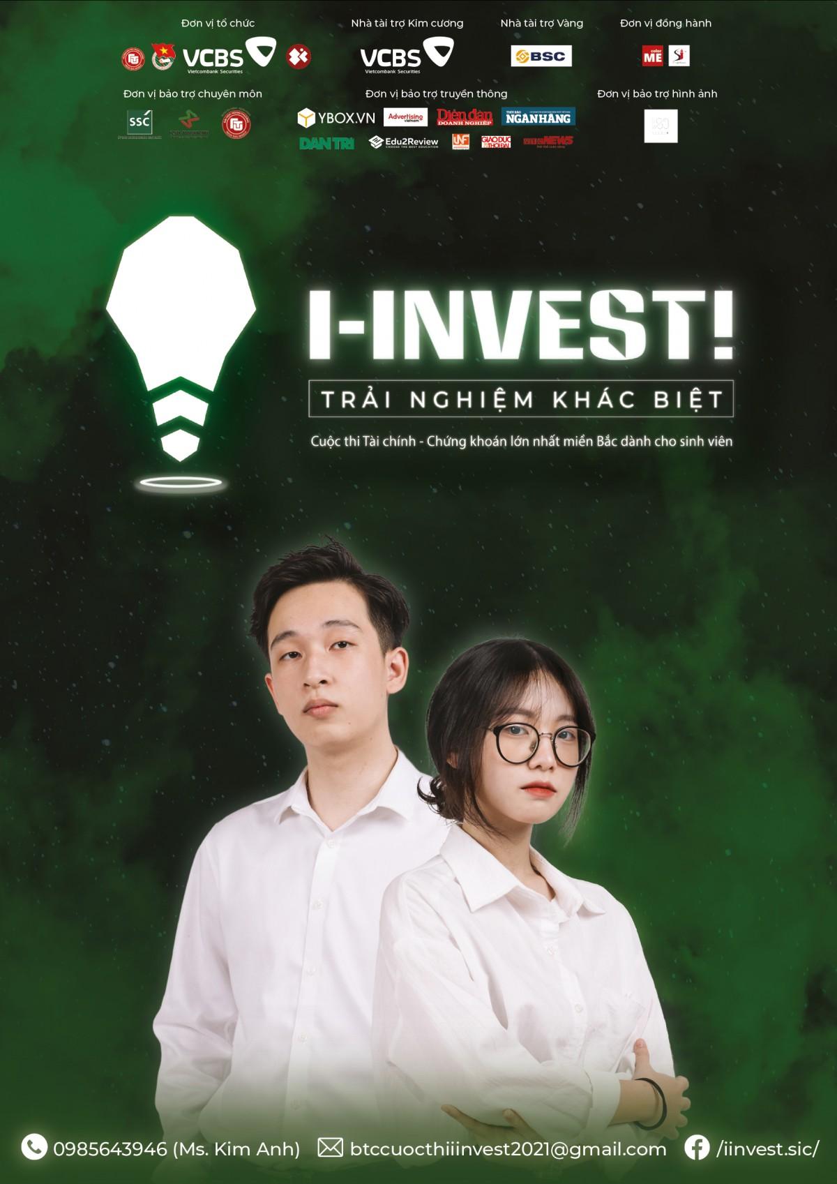 I-INVEST! là cuộc thi về Tài Chính - Chứng Khoán lớn nhất miền Bắc dành cho sinh viên được tổ chức thường niên bởi CLB Chứng khoán SIC - FTU. Trong năm 2021 này, colorME rất vui khi được đồng hành cùng Cuộc thi, duy trì mối quan hệ hợp tác lâu dài giữa hai bên và kiến tạo những giá trị khác biệt.
