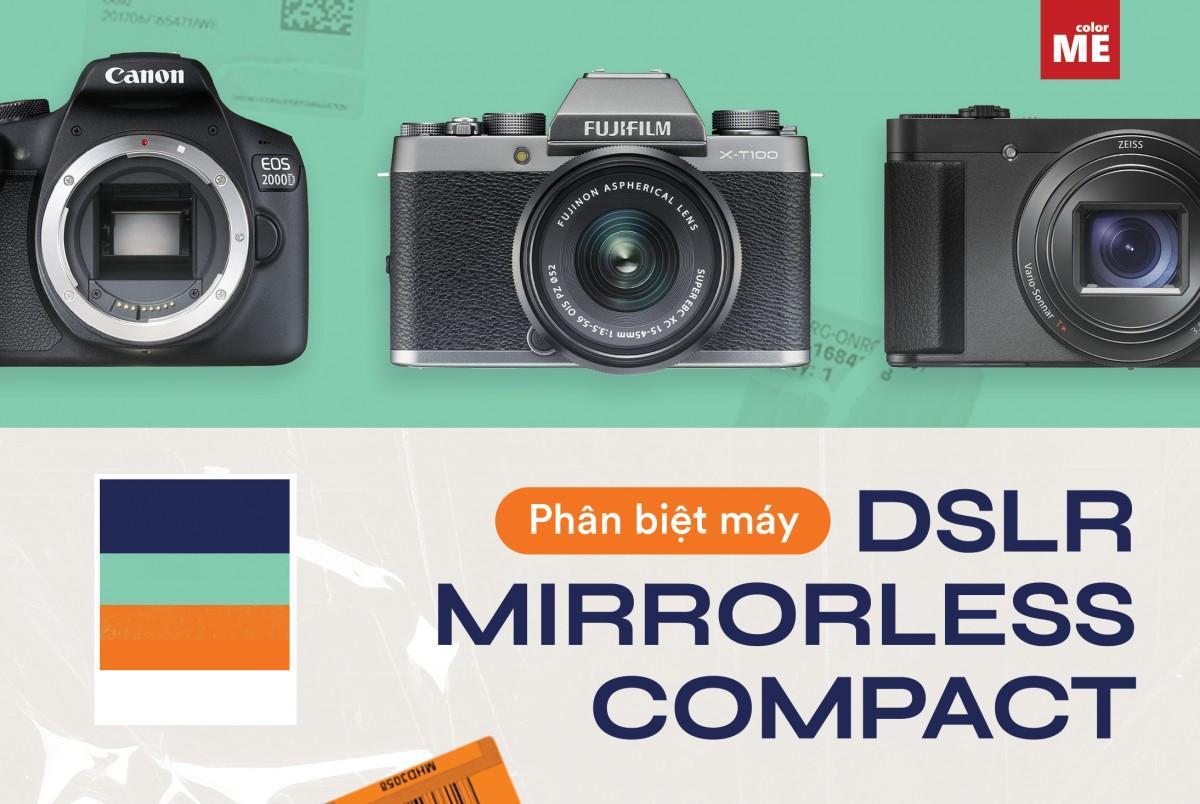 Hiện nay ở trên thị trường có 4 hãng máy phổ biến bao gồm Canon, Nikon, Sony và Fujifilm. Dù hãng khác nhau nhưng đều sẽ cùng phân chia theo các dòng máy, cụ thể là DSLR, Mirrorless và Compact. Ở bài viết dưới đây chúng mình sẽ cùng tìm hiểu sâu hơn về nội dung này nha!